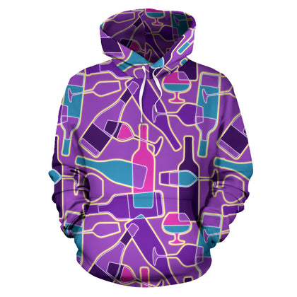 Abstract Wine Hoodie