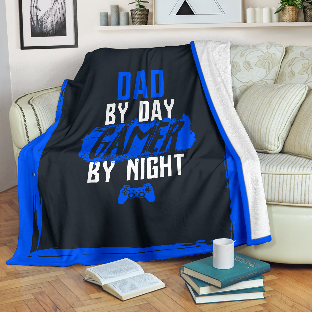 Dad By Day Gamer By Night PS Premium Blanket