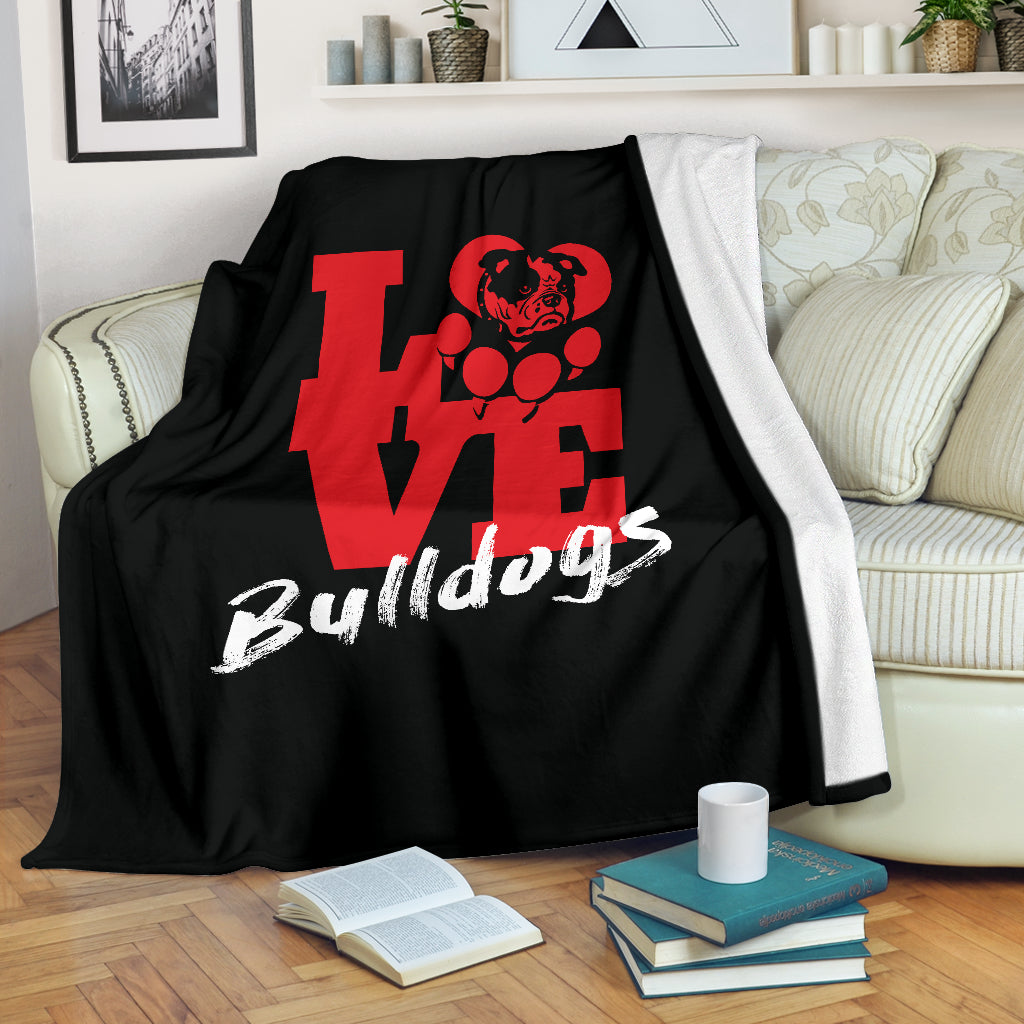 Love Bulldogs Premium Blanket