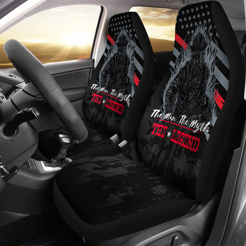 Firefighter Man Myth Legend Car Seat Covers (set of 2)