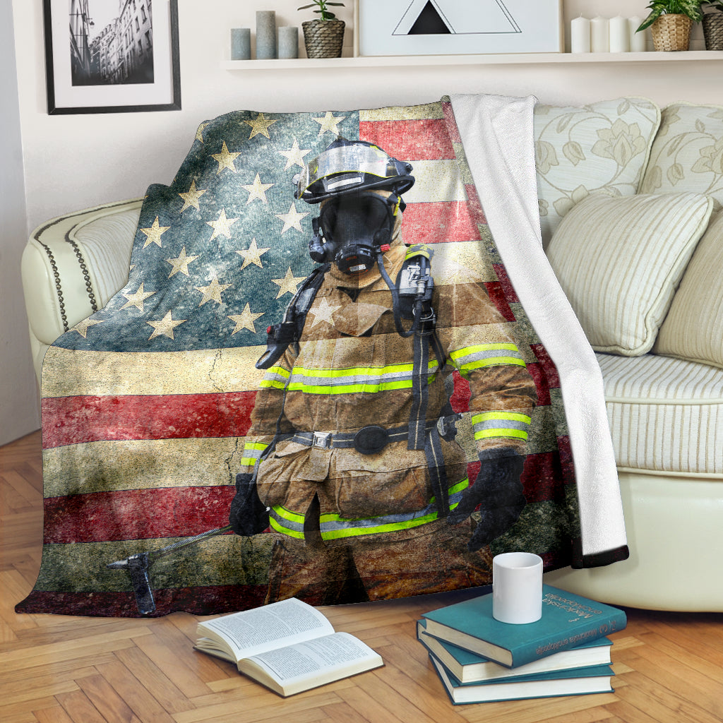 US Firefighter Premium Blanket