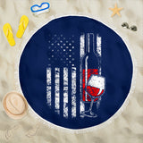American Wine Beach Blanket
