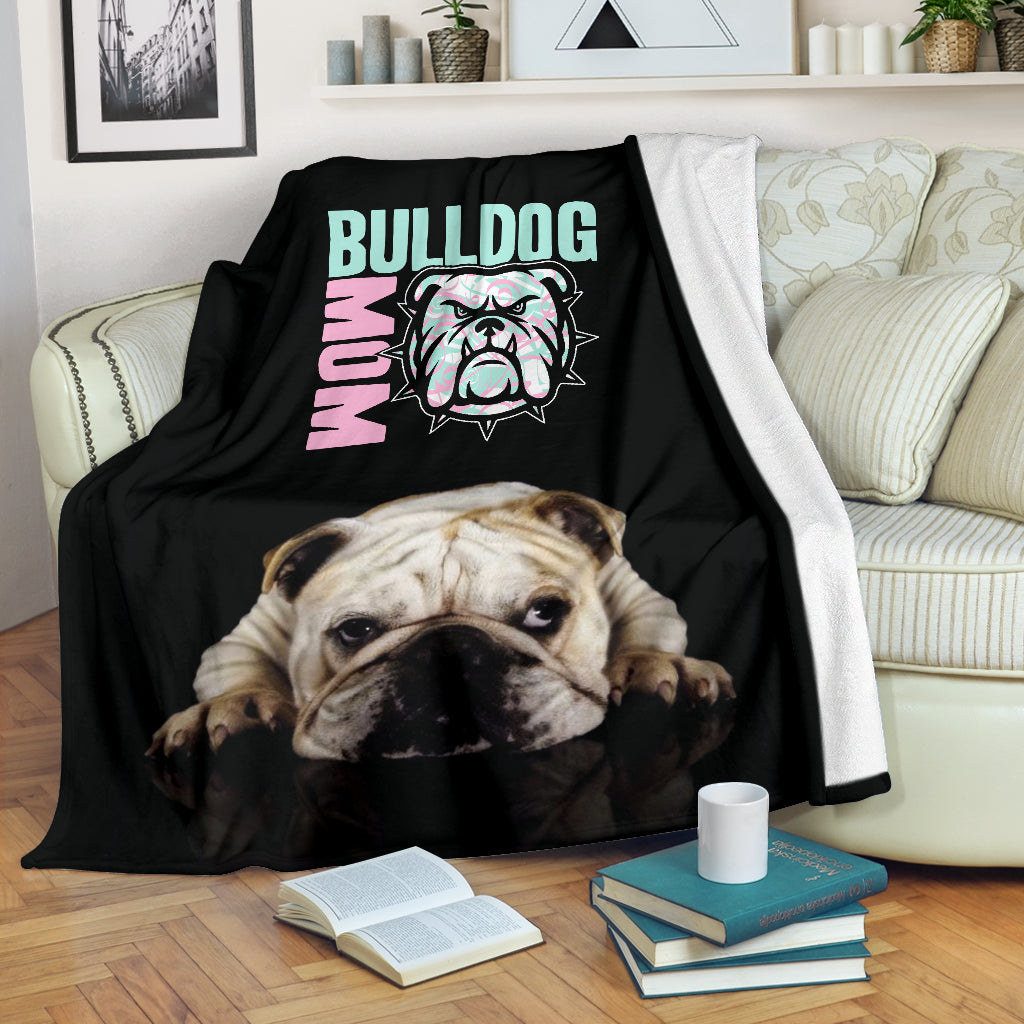 Bulldog Mom Premium Blanket