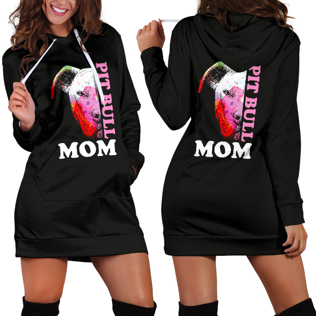 Pitbull Mom Hoodie Dress
