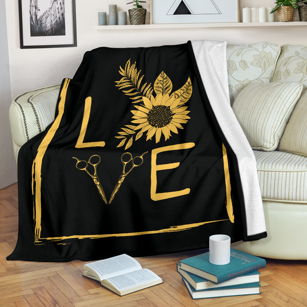 Hair Sunflower Premium Blanket