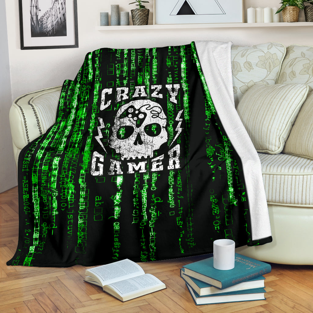 Crazy Gamer Premium Blanket - gaming bestseller