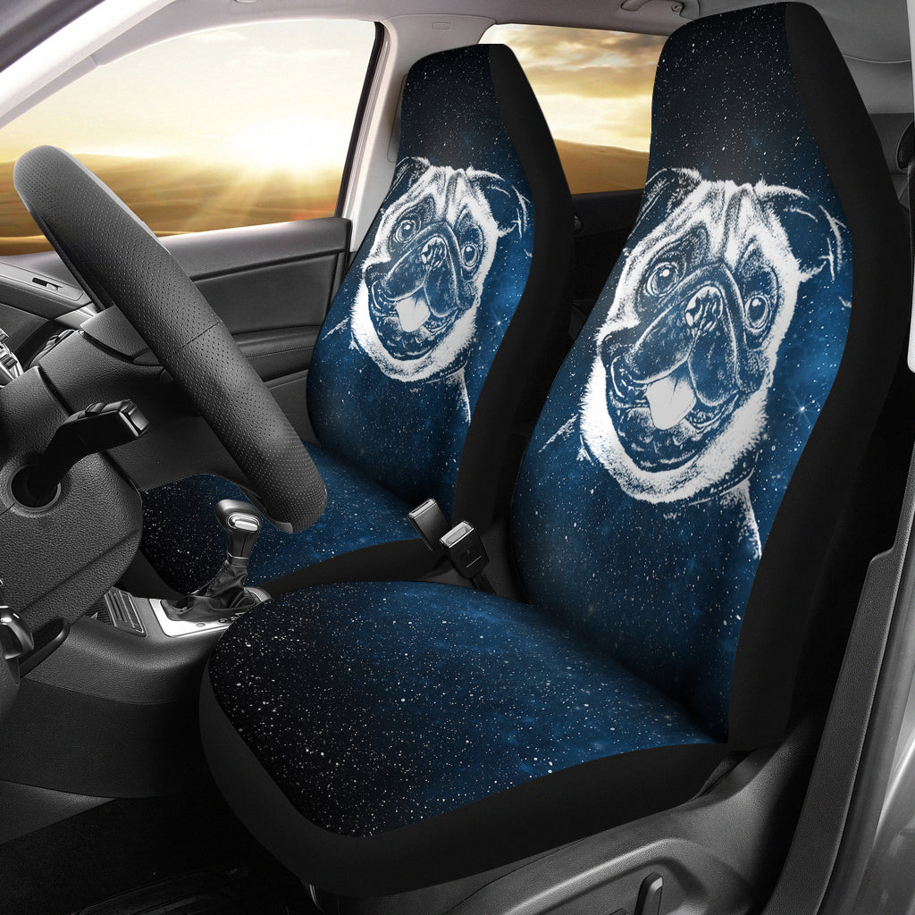 Dreamy Pug Car Seat Covers (set of 2)