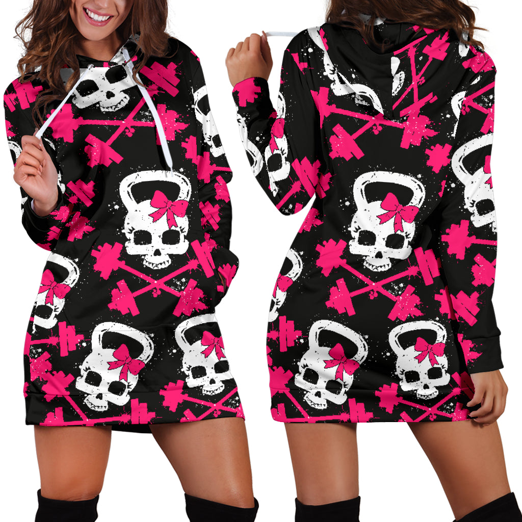 Gym Skull Hoodie Dress