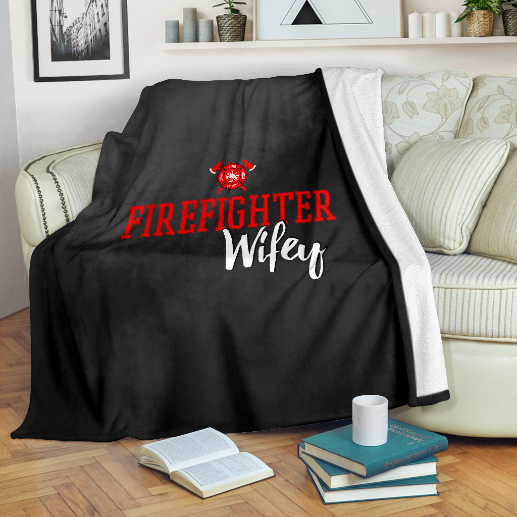 Firefighter Wifey Premium Blanket