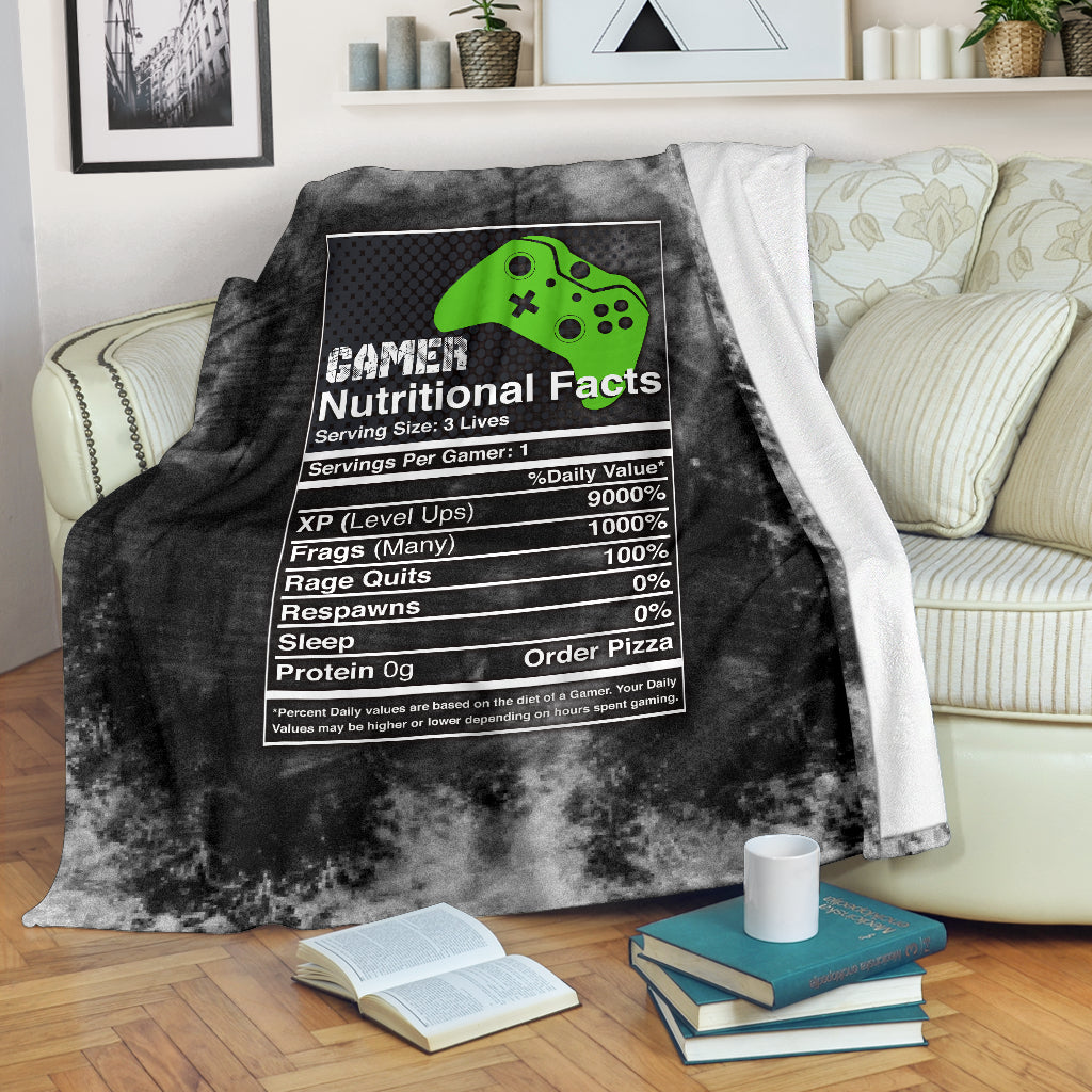 Gamer Nutritional Facts XB Premium Blanket