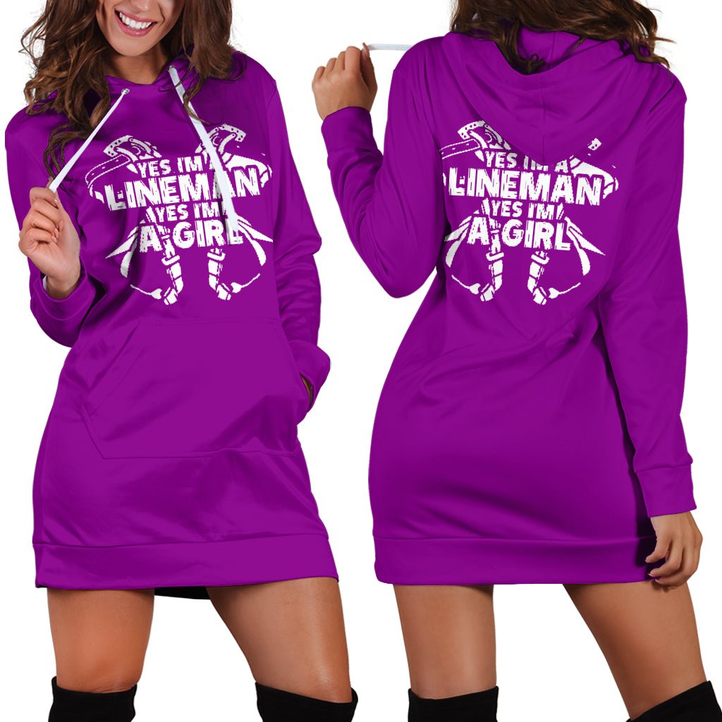 Lineman Girl Hoodie Dress