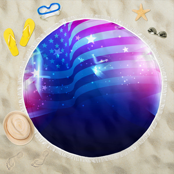 Abstract USA Beach Blanket
