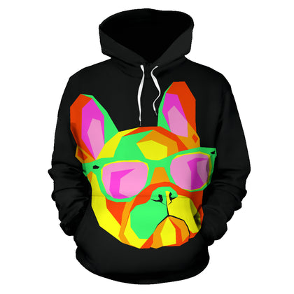 Abstract French Bulldog Hoodie