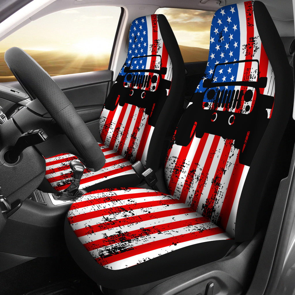 Jeep USA Car Seat Covers (Set of 2)