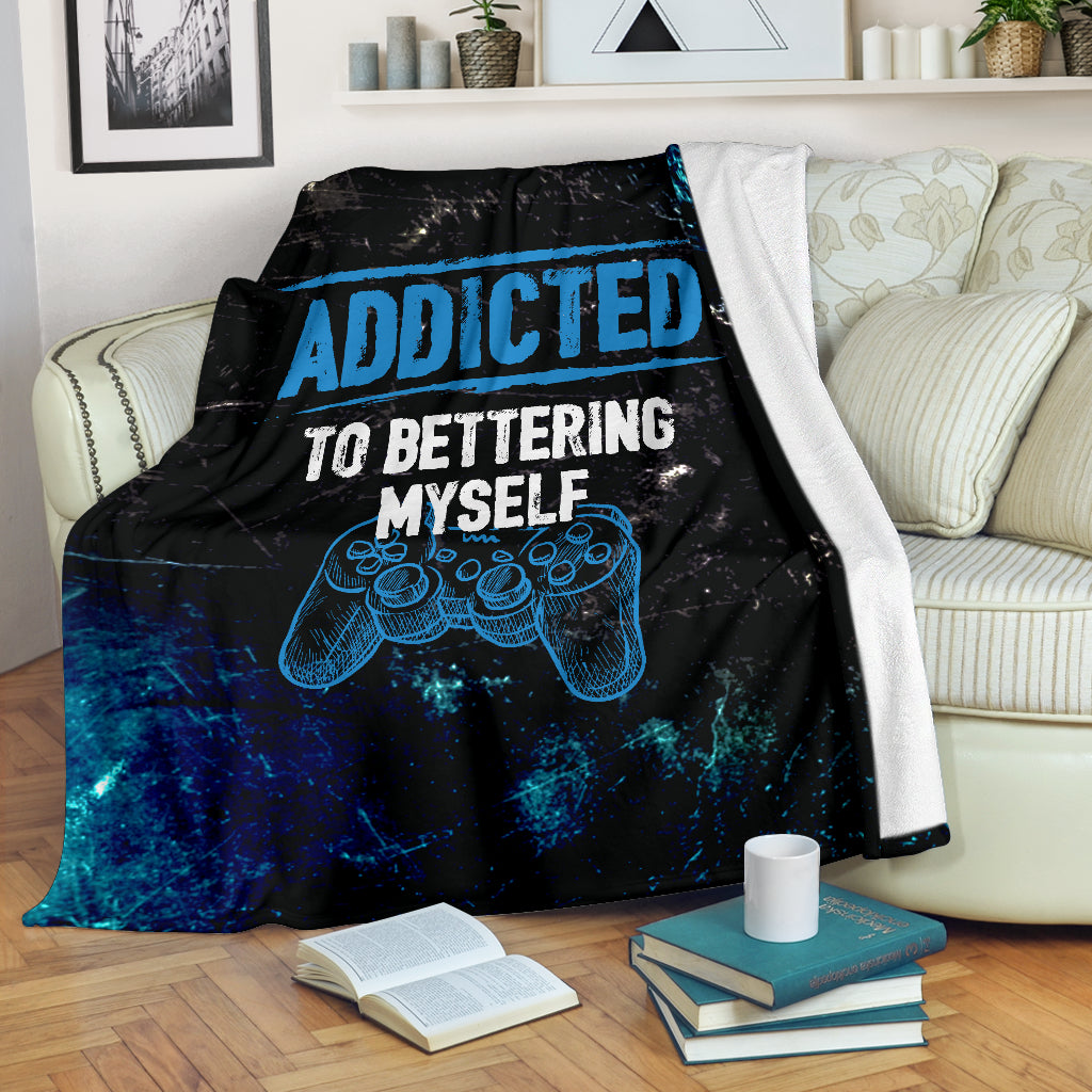 Addicted To Bettering Myself PS Premium Blanket
