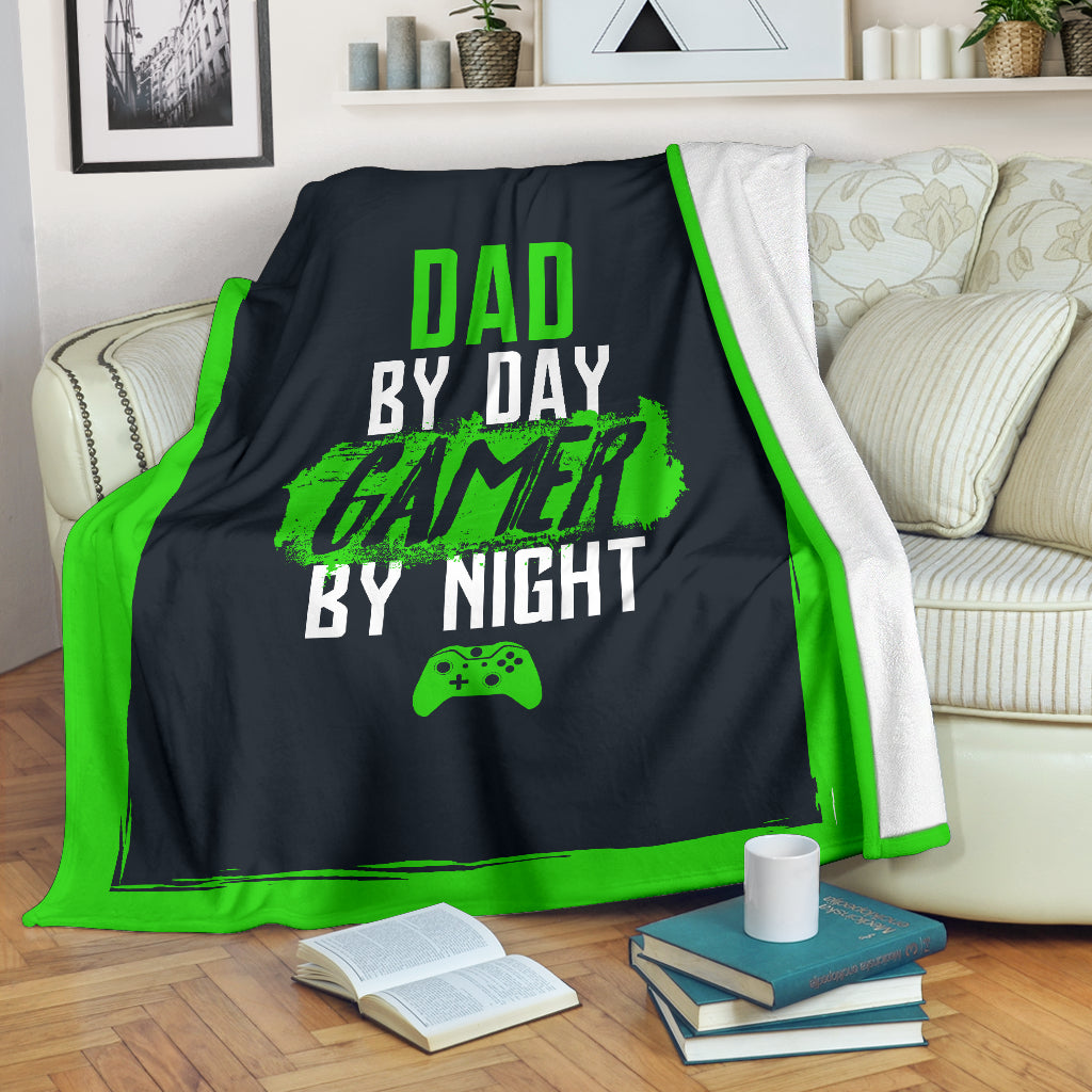 Dad By Day Gamer By Night XB Premium Blanket