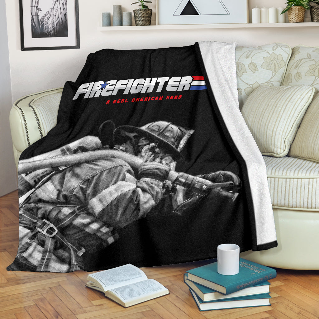 Firefighter Real American Hero Premium Blanket