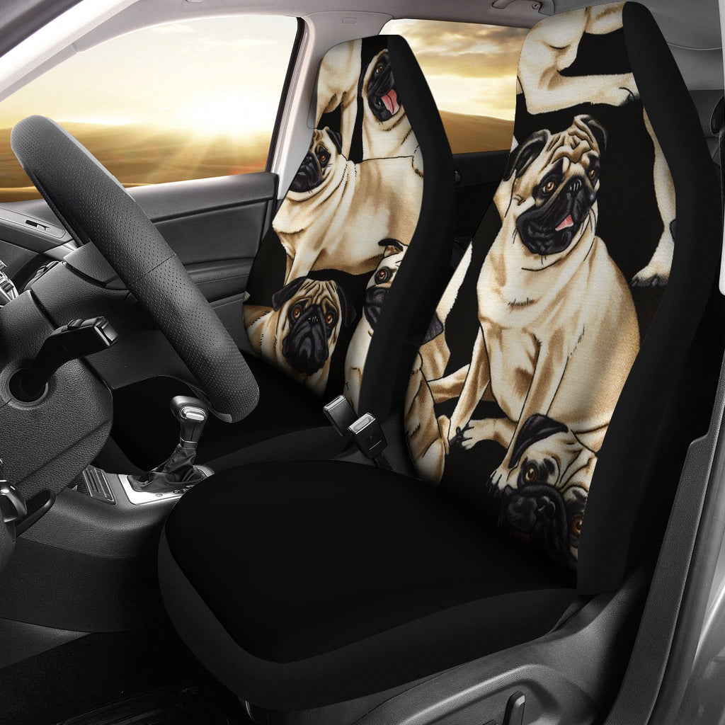 Bunch of Pugs Car Seat Covers