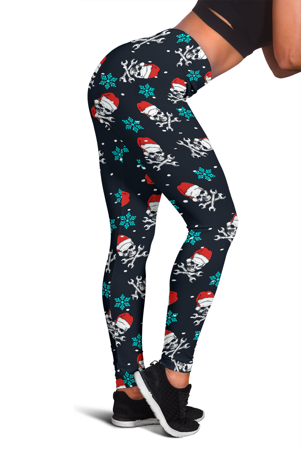 Mechanic Santa Skull Xmas Leggings