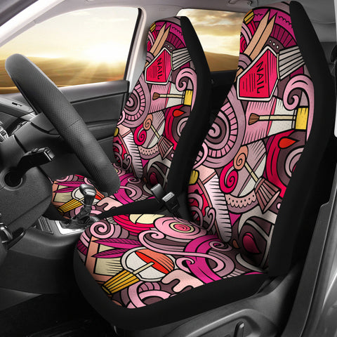 Nail Salon Car Seat Covers Set Of 2