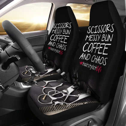 Hairstylist Life Car Seat Covers (set of 2)