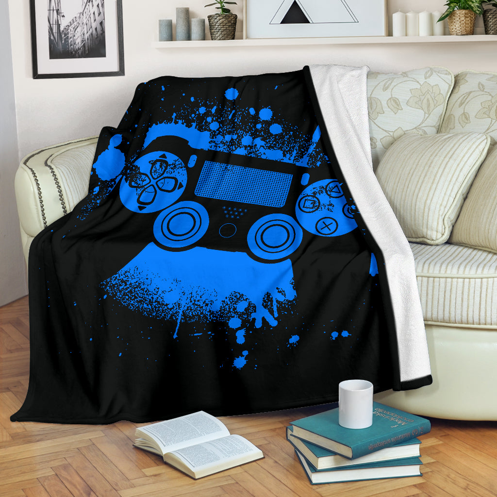 Blue Grunge PS Premium Blanket