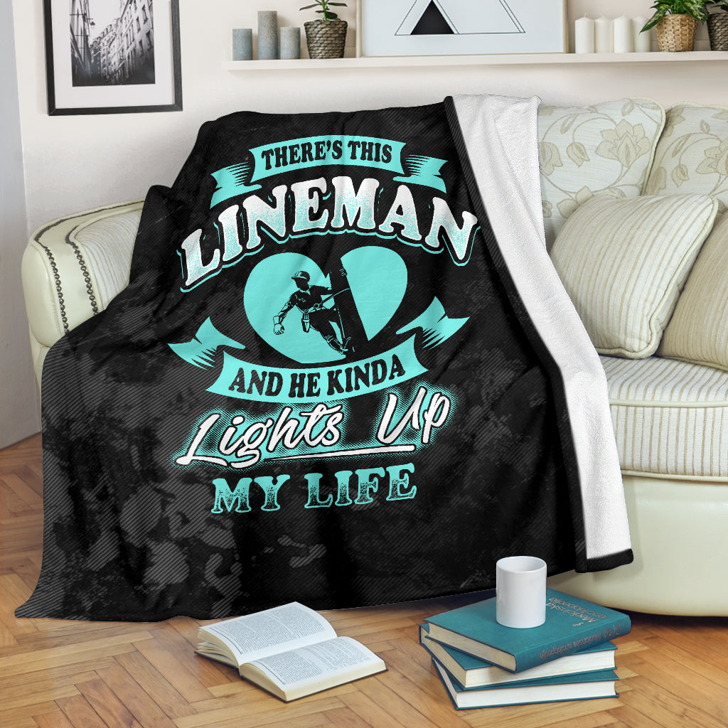 Lineman Lights Up My Life Premium Blanket
