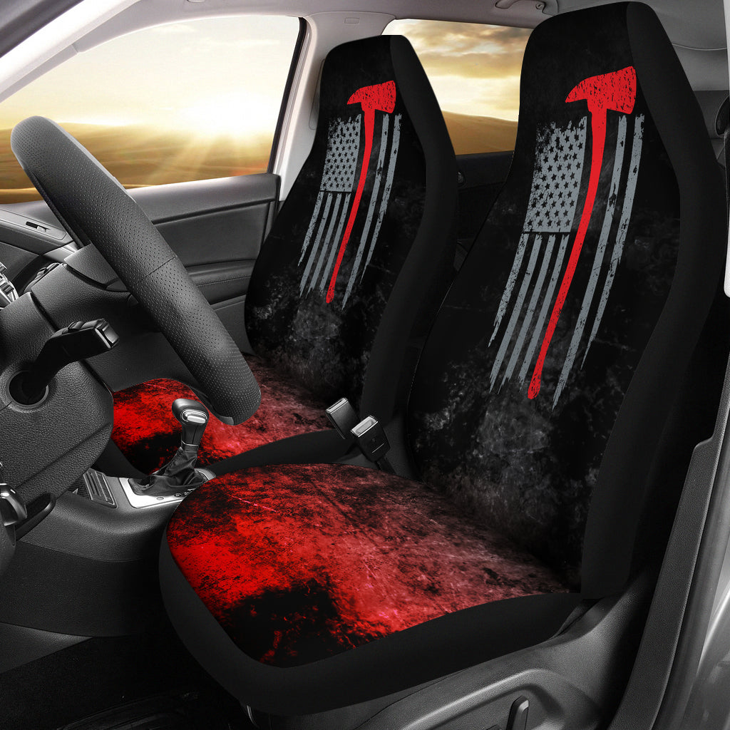 American Firefighter Car Seat Covers - firefighter bestseller