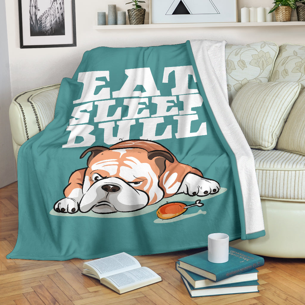 Eat Sleep Bull Premium Blanket