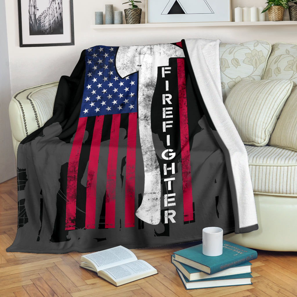Firefighter Flag Premium Blanket