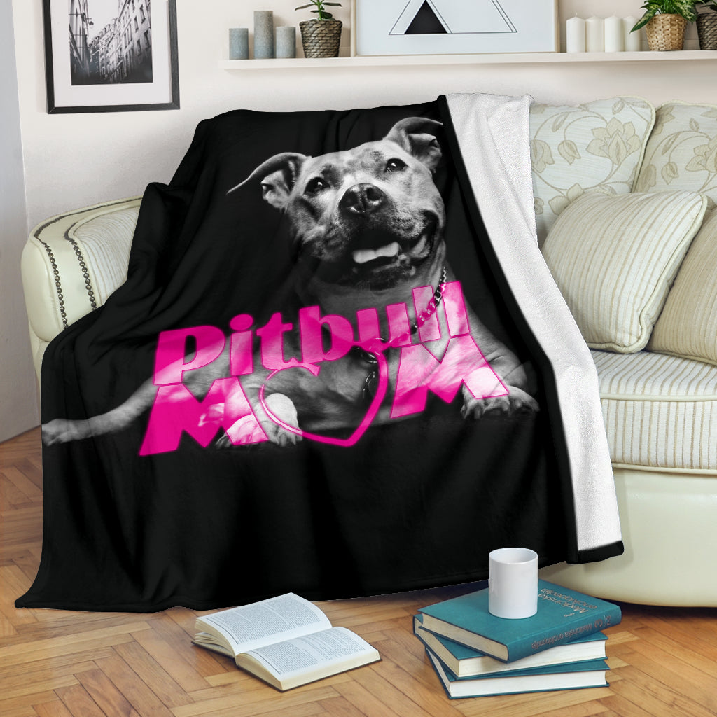 Pitbull Mom Premium Blanket