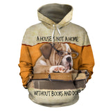Books and Dogs Hoodie