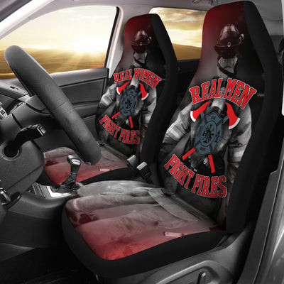 Real Firefighters Car Seat Covers (set of 2) - firefighter bestseller