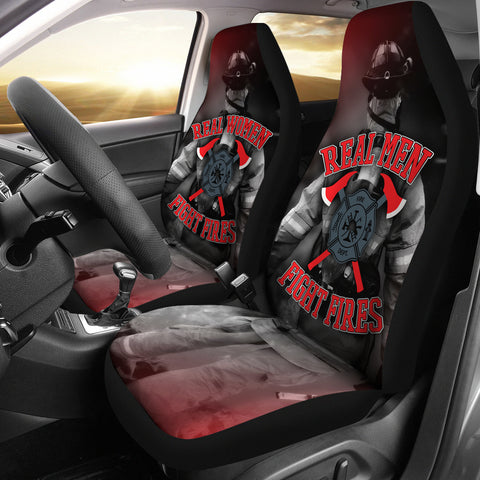 Real Firefighters Car Seat Covers (set of 2)