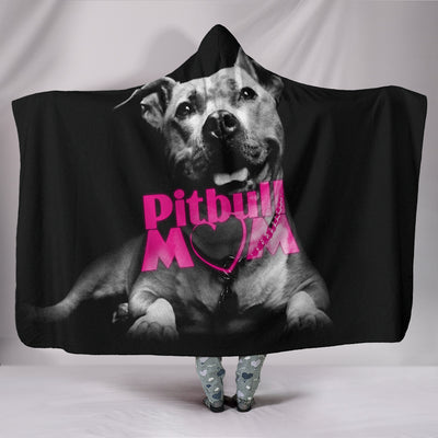 Pitbull Mom Hooded Blanket