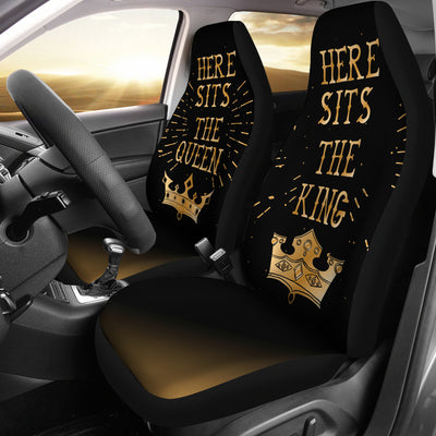 King & Queen Car Seat Covers (set of 2) - Gold