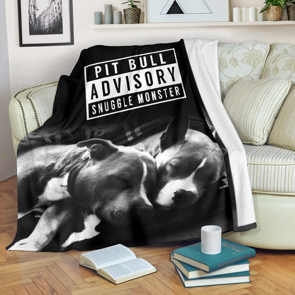 Pitbull Advisory Snuggle Monster Premium Blanket