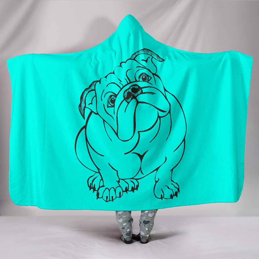 Bulldog With Attitude Hooded Blanket