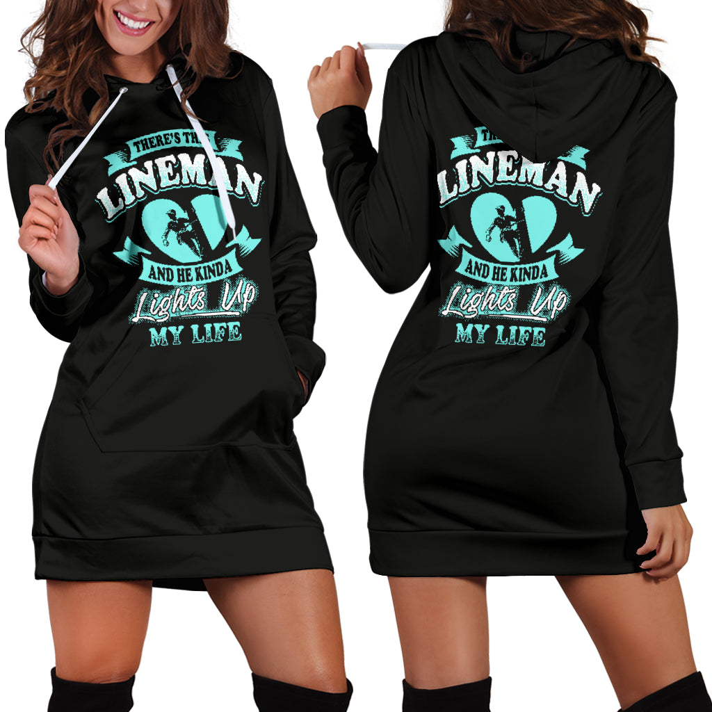 There's This Lineman Hoodie Dress