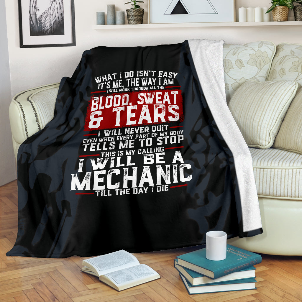 Blood Sweat and Tears Mechanic Premium Blanket