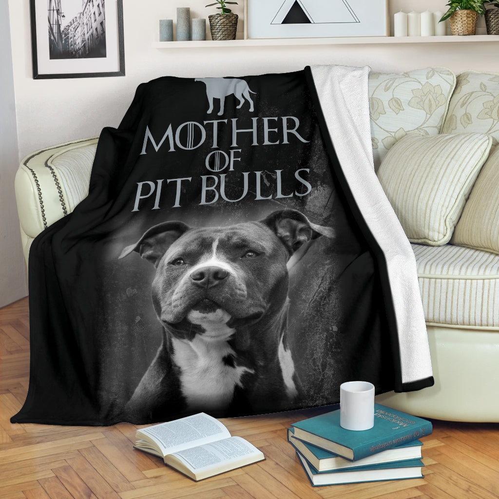 Mother of Pit Bulls Premium Blanket