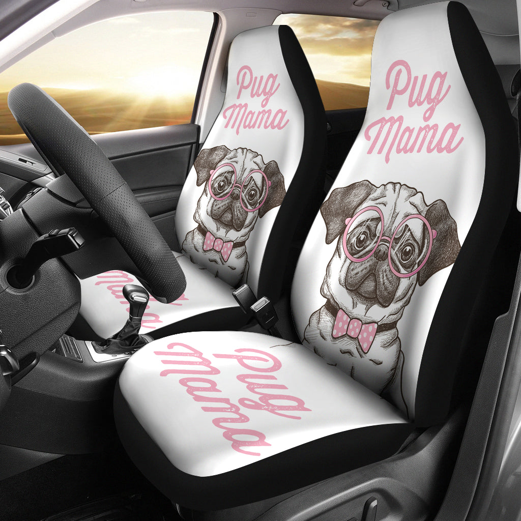 Pug Mama Car Seat Covers (set of 2) - pug bestseller