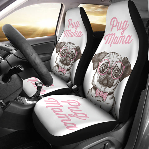 Pug Mama Car Seat Covers (set of 2)