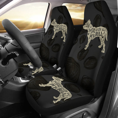 Life Is Better With A Pit Bull Car Seat Covers (set of 2)