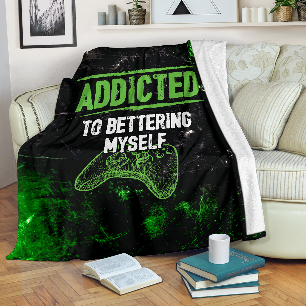 Addicted To Bettering Myself XB Premium Blanket