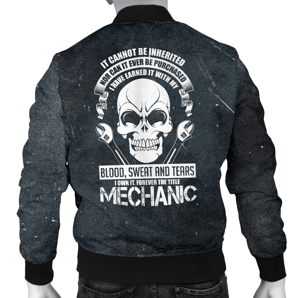 Blood Sweat Tears Mechanic Men's Bomber Jacket