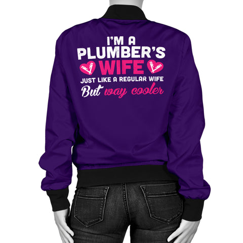 Cool Plumber's Wife Bomber Jacket
