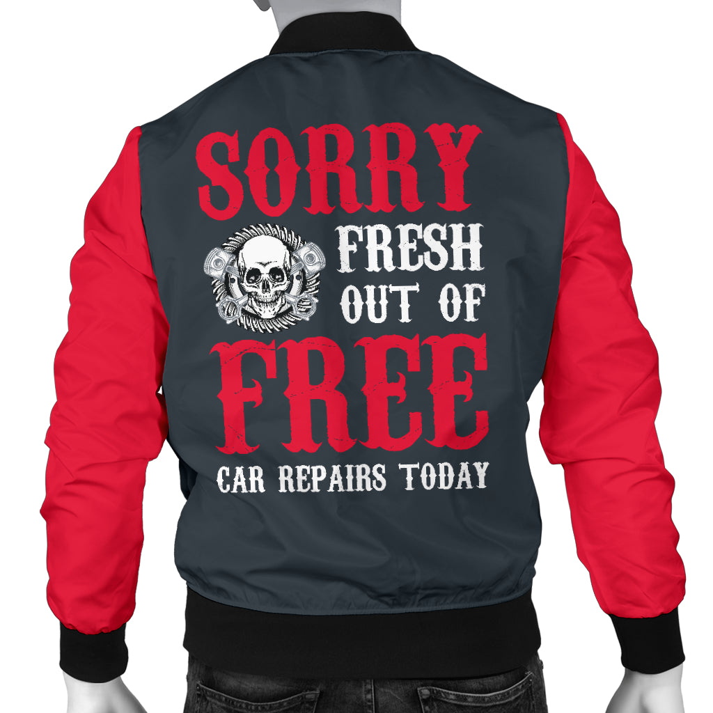 Out of Free Repairs Men's Bomber Jacket