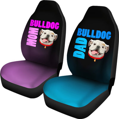 Bulldog Mom & Dad Car Seat Covers (set of 2) - bulldog bestseller
