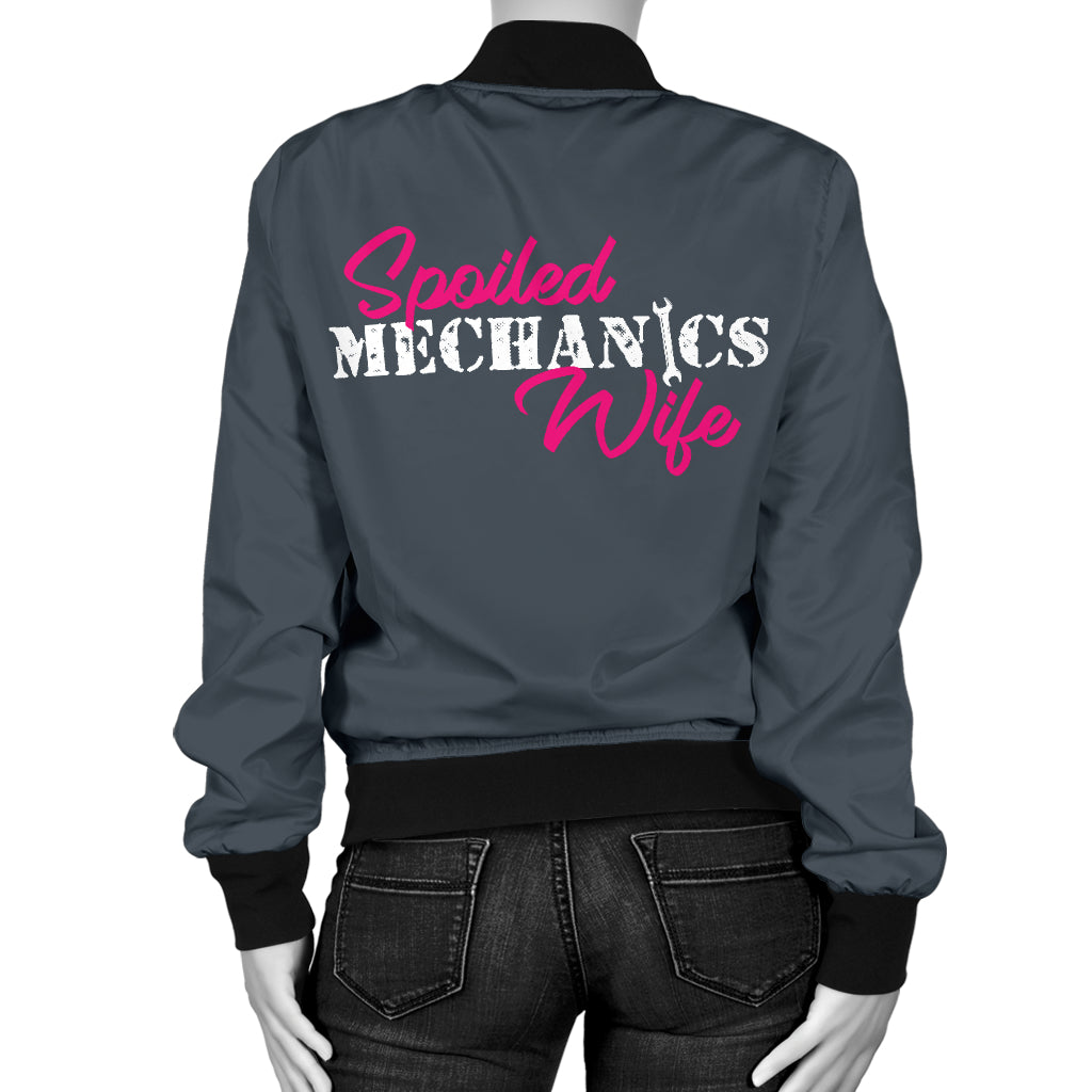 Spoiled Mechanic's Wife Bomber Jacket